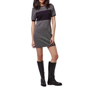 Colorblock Herringbone Shift Dress